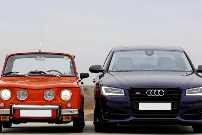Audi S8 contra Renault R8