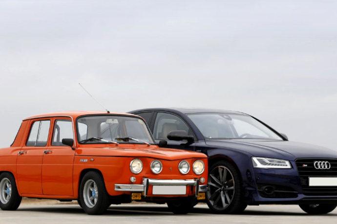 Renault R8 TS contra el Audi S8 Plus