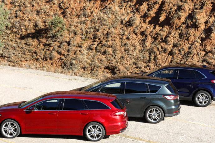 Tres vehículos Ford: Edge, Mondeo Sportbreak y S-Max. ¿Cuál gana?